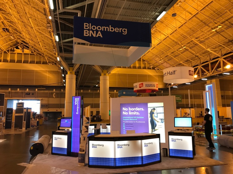 Booth graphics design | Bloomberg BNA